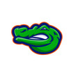 alligator head mascot vector image vector image