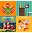 Baseball concept set vector image