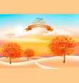 beautiful autumn nature background with colorful vector image
