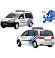 belgium police car vector image vector image