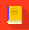 book icon flat style vector image vector image
