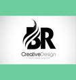 br b r creative brush black letters design with vector image vector image