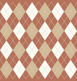 brown beige and white seamless argyle pattern vector image