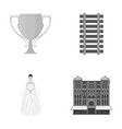 business sport tourism and other monochrome icon vector image