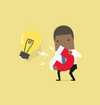 businessman attracting light bulbs with magnet vector image