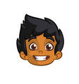 cartoon small arab boy vector image vector image