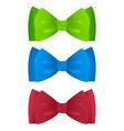 color bow ties vector image