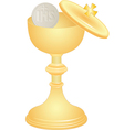 communion cup and host vector image vector image