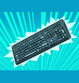 computer wireless keyboard an accessory vector image