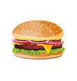 delicious hamburger icons vector image vector image