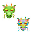 dragon head with polygonal geometric style vector image vector image