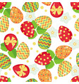 easter seamless pattern with eggs vector image vector image