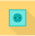 electric socket icon flat style vector image