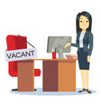 employment vacancy and hiring job concept vector image