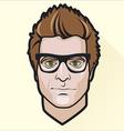Flat design mans portrait vector image