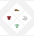 flat icon dress set of foot textile casual t vector image vector image