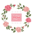 Frame with vintage roses Decorative retro flowers vector image vector image