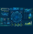 futuristic hud background infographic or vector image vector image