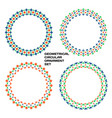 Geometrical circular ornament set color patterns
