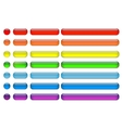 glass buttons set multicolor vector image vector image