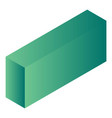 green carton package icon isometric style vector image vector image