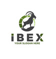 ibex solutions care logo designs modern vector image vector image