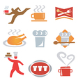 icons cooking waiter vector image