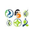 kidney cancer health support set vector image vector image