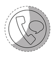 landline phone button icon image vector image