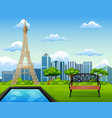 landscape background with eiffel t vector image