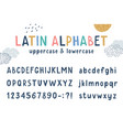 latin funny kids hand drawn alphabet vector image