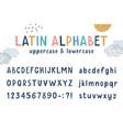 latin funny kids hand drawn alphabet vector image vector image