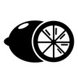 lemon icon simple black style vector image
