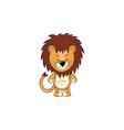 lion cartoon icon vector image vector image
