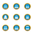loophole icons set flat style vector image vector image