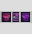 mardi gras poster design template in neon style vector image vector image