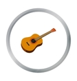 Mexican acoustic guitar icon in cartoon style vector image vector image