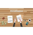 microfinance person work in his table on some vector image vector image