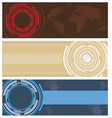 modern technology banners background vector image vector image