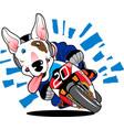 motodog01 vector image vector image