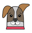nice dog a domestic mammal animal vector image