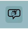 Pale blue burning time message vector image vector image