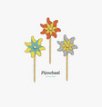 pinwheel paper windmill hand draw sketch vector image vector image