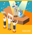 political candidate support isometric background vector image