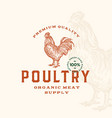 premium quality poultry abstract sign vector image
