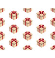 present seamless pattern isometric gift box vector image