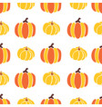 pumpkins seamless background red vector image