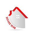 real estate house isolated icon vector image