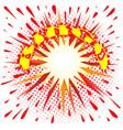 red and yellow fun cartoon bingo splash vector image vector image