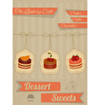 Retro Menu for the Cafe Pastry Shop vector image vector image